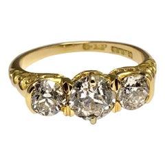 Victorian Diamond Trilogy Ring in 18 Carat Gold