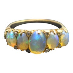 Antique Victorian Opal 18 Carat Gold Ring
