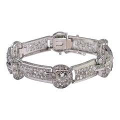 French Art Deco Platinum Diamond Bracelet