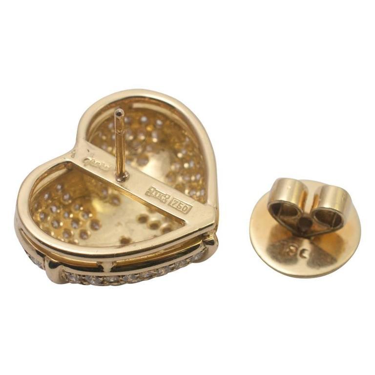 Women's Chopard Diamond Gold Earrings For Sale