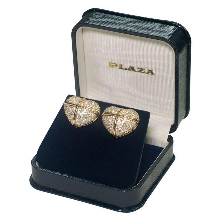 Chopard Diamond Gold Earrings For Sale 1
