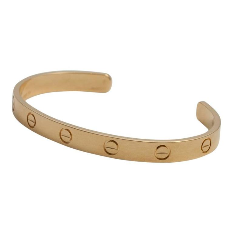 Cartier Yellow Gold Open Love Bangle Bracelet 2