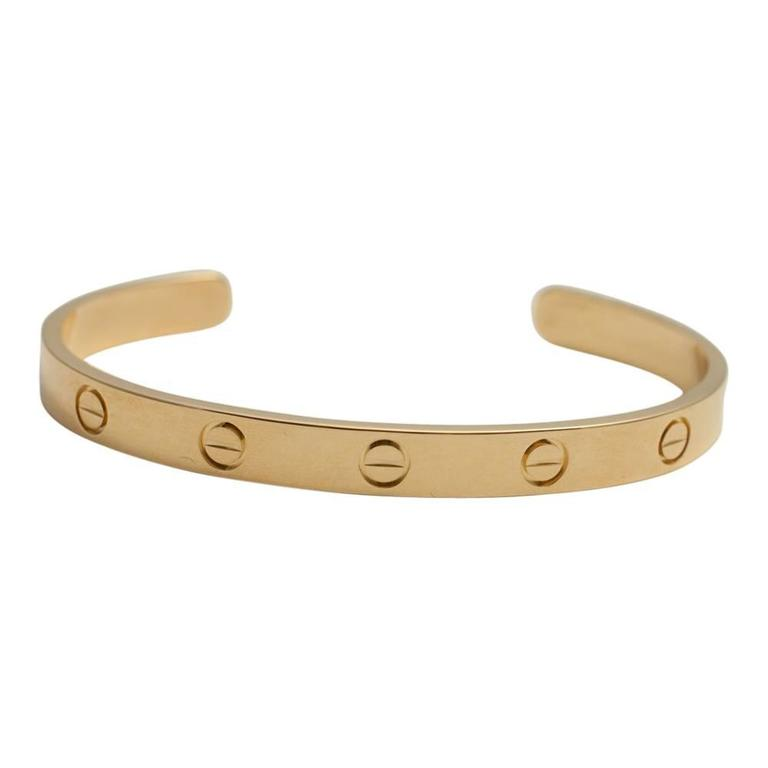 Cartier Yellow Gold Open Love Bangle Bracelet 5