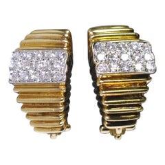 Vourakis 18 Carat Gold Diamond Clip-On Earrings