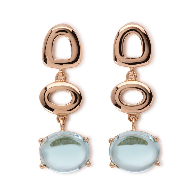 Contemporary Maviada's St Tropez Green Peridot 18 Karat Yellow Gold Drop Long Earrings For Sale