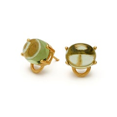 MAVIADA' s Marmaris 18k Yellow Gold Peridot Vermeil Classic Stud Earrings