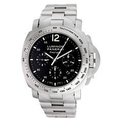 Panerai Stainless Steel Daylight chronograph Wristwatch Ref PAM 236