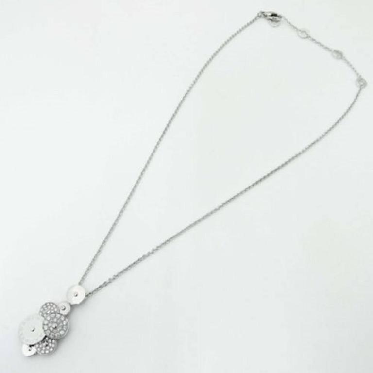 Bulgari Cicladi Diamond Gold Necklace In As new Condition For Sale In Los Angeles, CA
