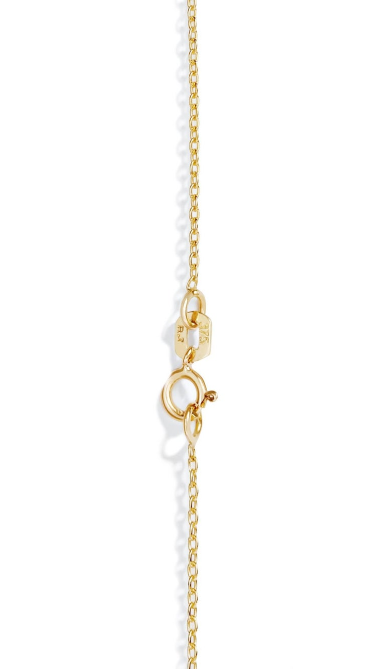 Rose Cut Allison Bryan Rose Gold Rough Diamond Necklace For Sale