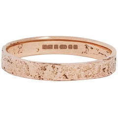 Slim 18 Karat Rose Gold Paper Ring by Allison Bryan