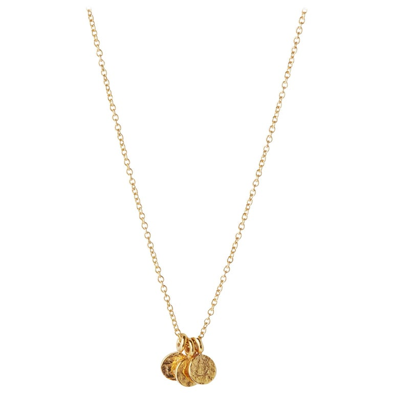 Trio Necklace in 18 Karat Yellow Gold by Allison Bryan