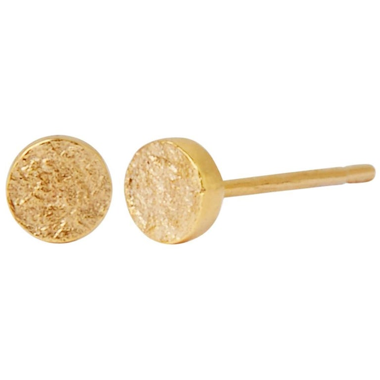 Allison Bryan Stud Earrings In 9 Karat Gold For