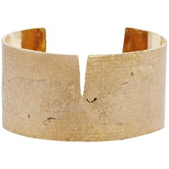 Split Cuff in Bronze by Allison Bryan