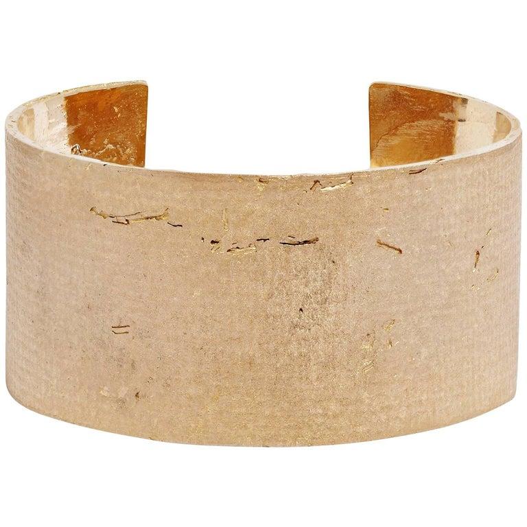 Bronze Mega Cuff Bracelet by Allison Bryan