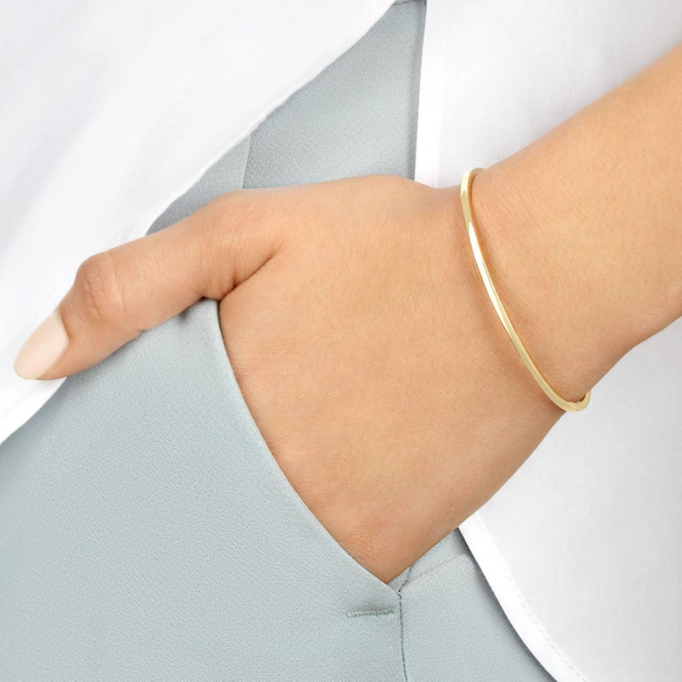Cuff Bracelet in Yellow Gold with Diamonds by Allison Bryan In New Condition For Sale In London, GB