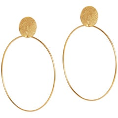 Gold Stud and Hoop Earrings by Allison Bryan