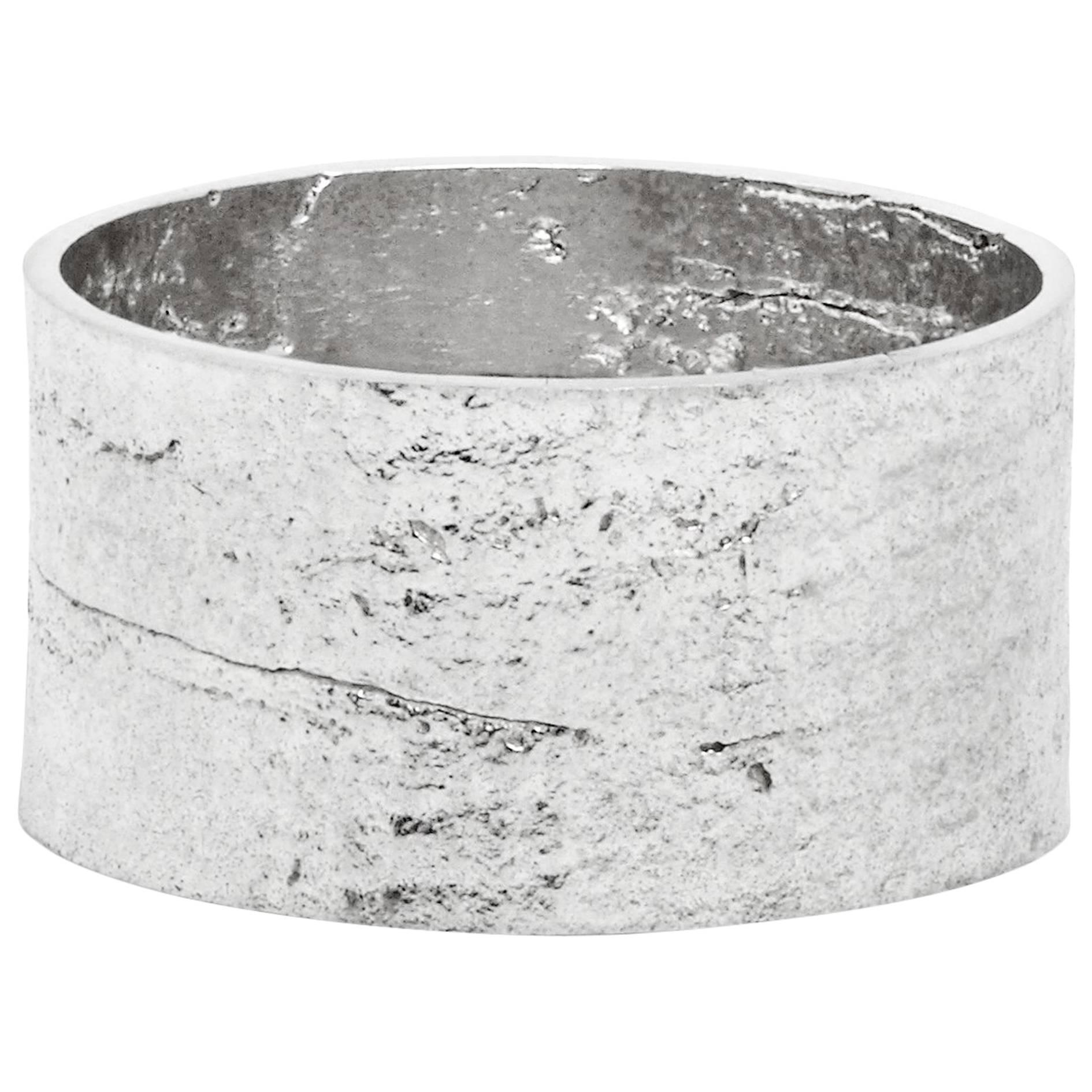 Paper Cigar Ring in Silver by Allison Bryan