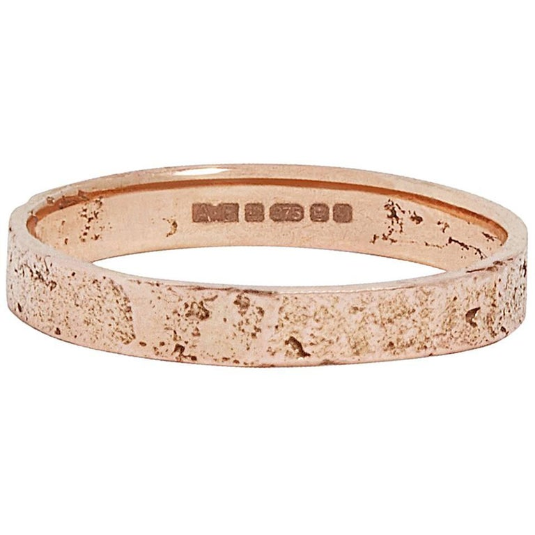Rose Gold Paper Ring by Allison Bryan For Sale