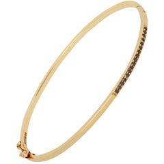 Gold Bracelet with Black Diamonds by Allison Bryan