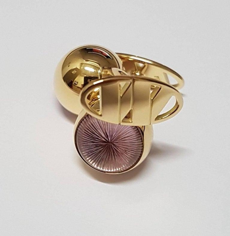 Cufflinks Gold with Amethyst Cabochons 8