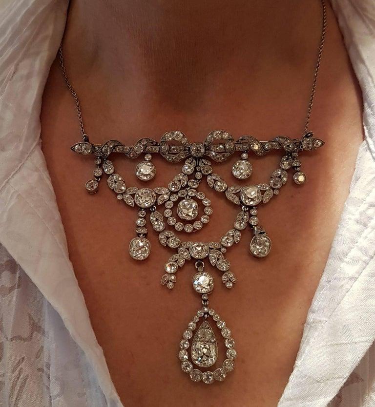 Belle Époque Platinum Diamond Necklace (Cartier Paris) 2