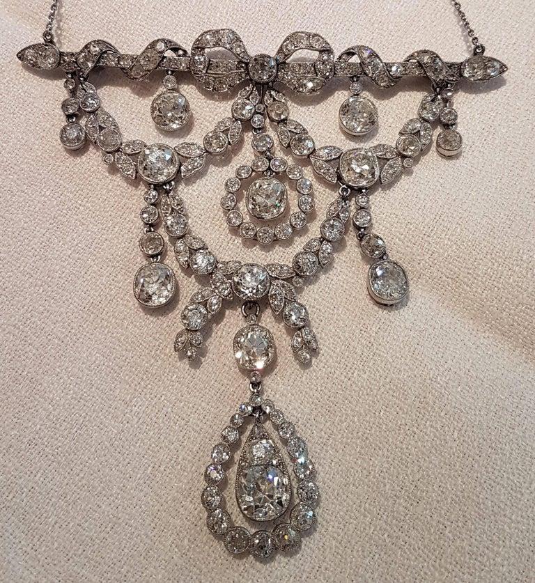 Belle Époque Platinum Diamond Necklace (Cartier Paris) 3