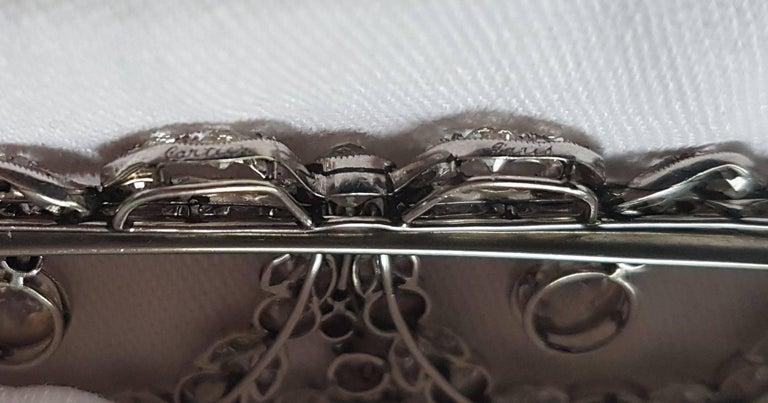 Belle Époque Platinum Diamond Necklace (Cartier Paris) 4