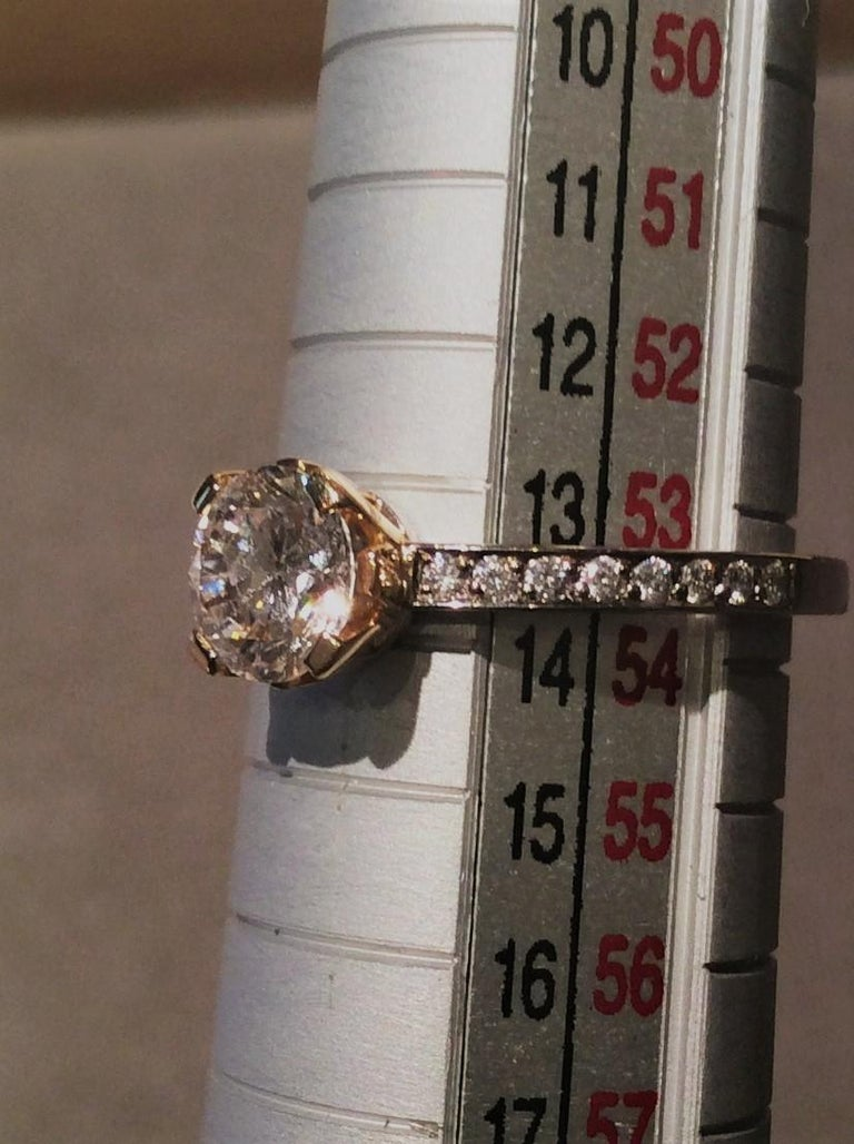 """Modern Ring, White and Rose Gold, Natural Faint Pink Diamond """"Wagner Collection"""" For Sale"""