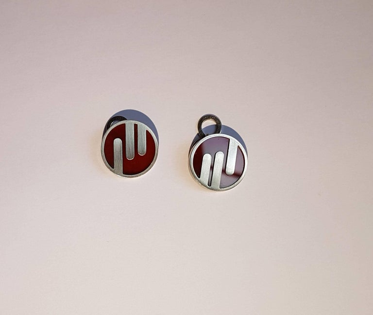 Cufflinks, Platinum, Jasper 3