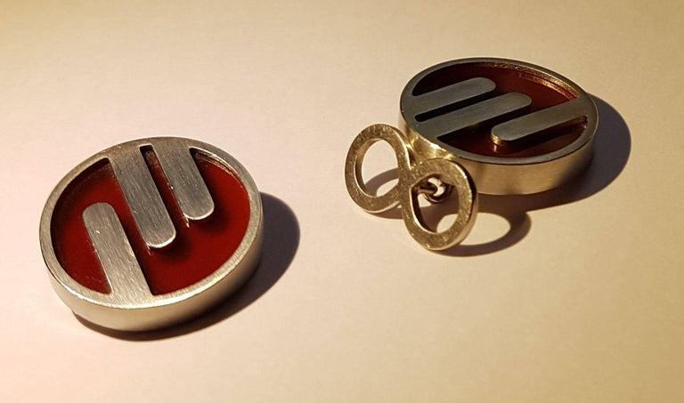 Cufflinks, Platinum, Jasper 4