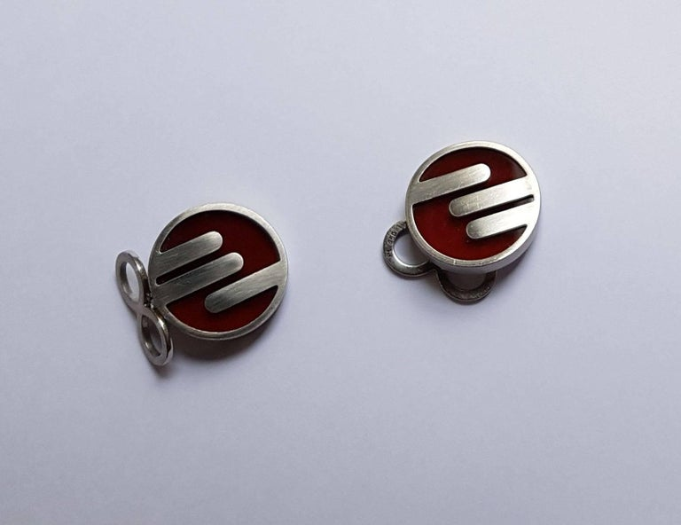 Cufflinks, Platinum, Jasper For Sale 1