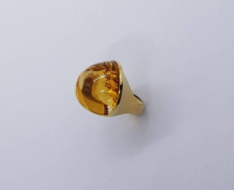 Modern Citrine Gold Ring
