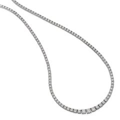 White Gold 4.20 Carat Diamond Line Necklace