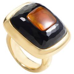 Pomellato Onyx Citrine Gold Ring