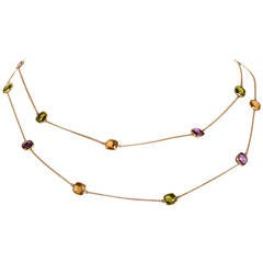 Tiffany & Co. Paloma Picasso Multi-Gemstone Gold Necklace