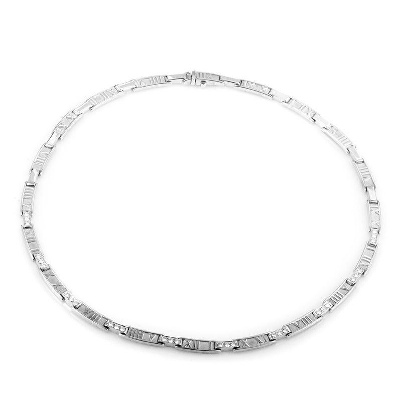 Tiffany & Co. Atlas Diamond Gold Collar Necklace 2