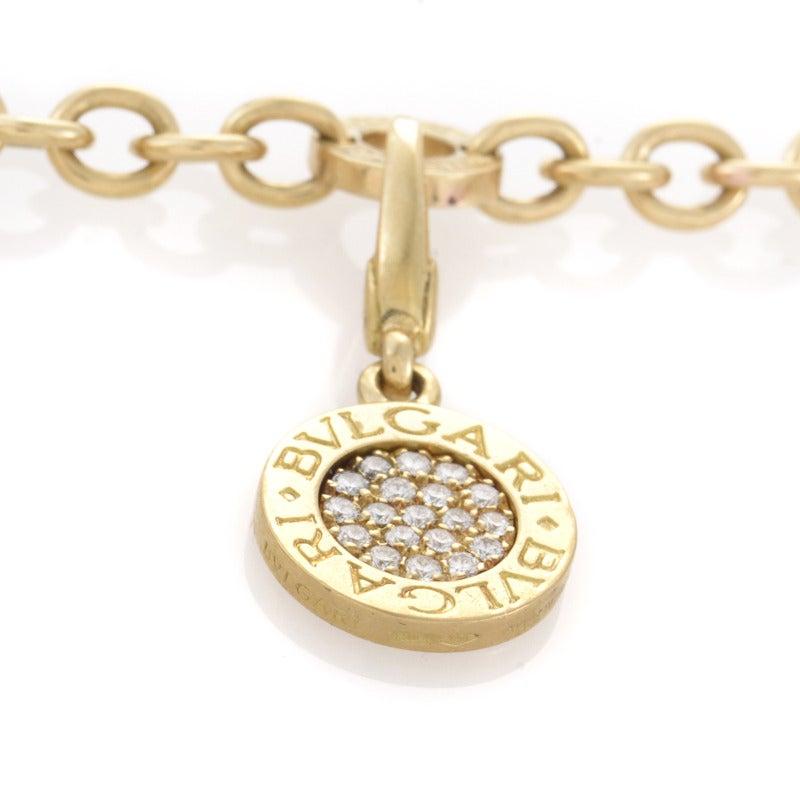 Bulgari Mother of Pearl Diamond Pave Lapis Lazuli Gold Charm Bracelet 4