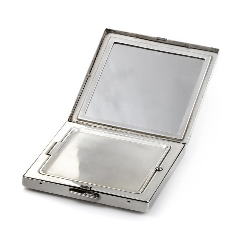Cartier Ruby Silver Gold Makeup Compact At 1stdibs