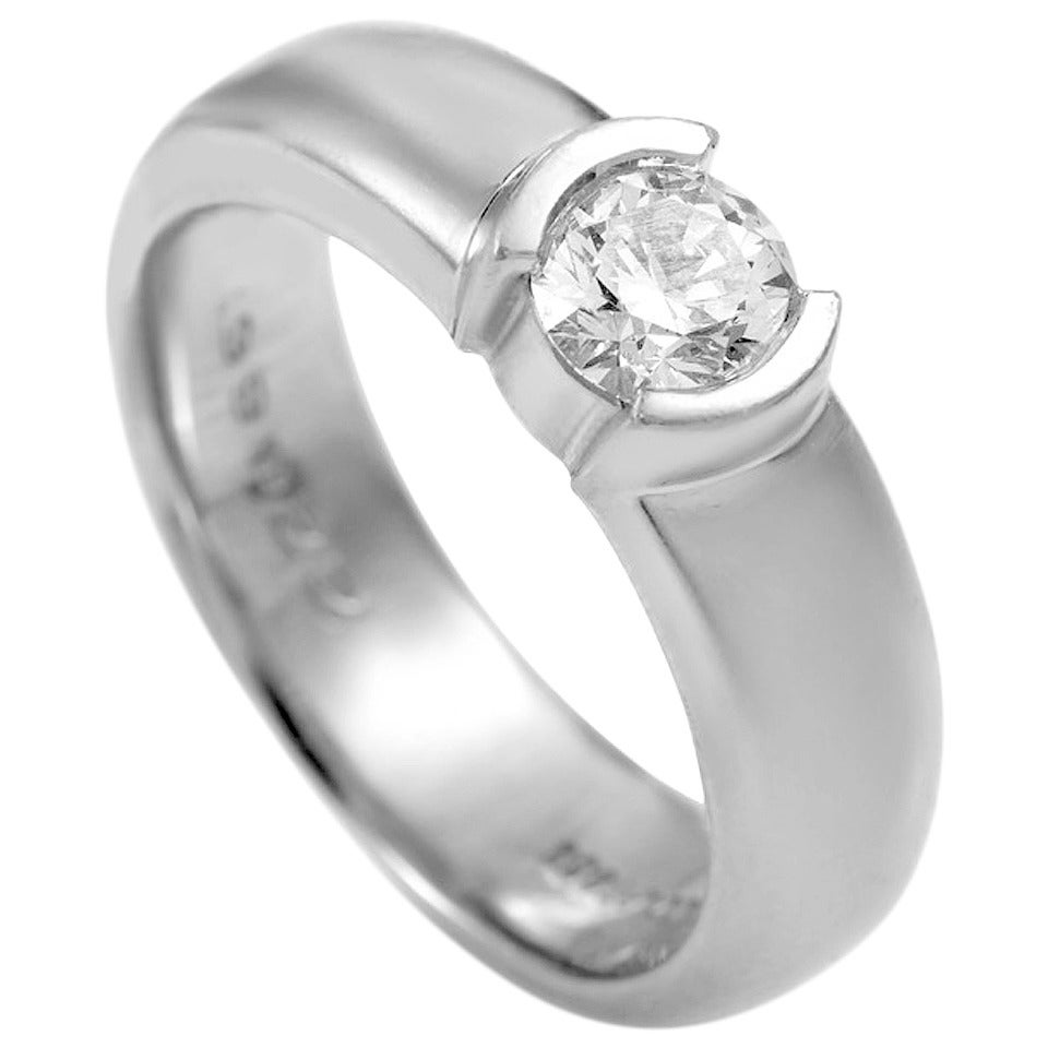and co etoile solitaire platinum