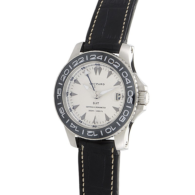 chopard l u c stainless steel pro one cadence gmt