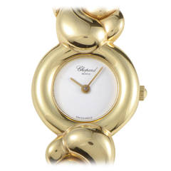 Chopard Ladies Yellow Gold Casmir Quartz Bangle Wristwatch