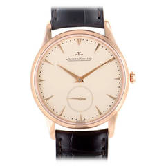 Jaeger LeCoultre Rose Gold Master Grande Ultra Thin Automatic Wristwatch