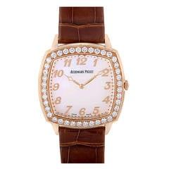 Audemars Piguet Rose Gold and Diamond Tradition Extra-Thin Wristwatch