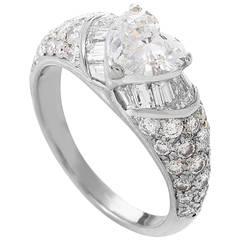 Bulgari Heart Cut Diamond Gold Engagement Ring