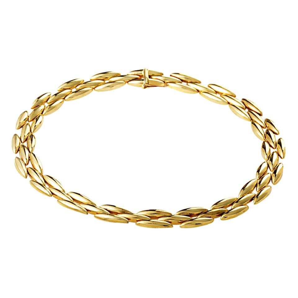 Cartier Gentiane Yellow Gold Necklace For Sale