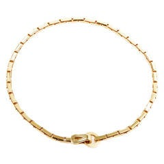 Cartier Agrafe Gold Collar Necklace