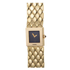 Chanel Ladies Yellow Gold Quartz Wristwatch
