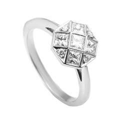 Tiffany & Co. Mosaic Diamond Platinum Engagement Ring
