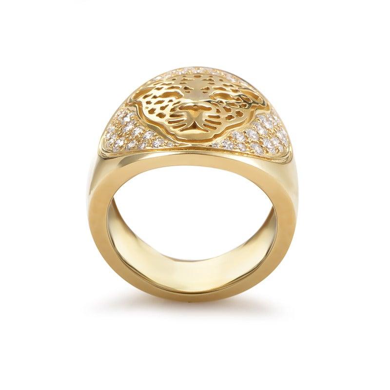 y gold tiger ring at 1stdibs