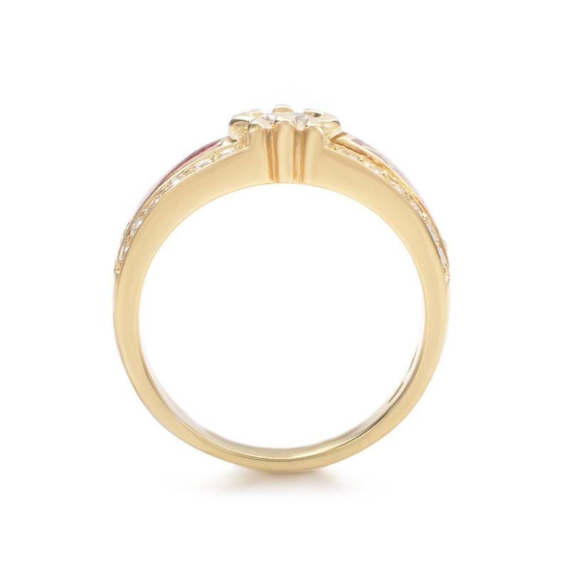 korloff enamel gold ring at 1stdibs